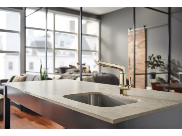 Kitchen Faucet With Sprayer And Soap Dispenser