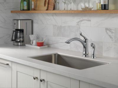 4453-AR-DST Linden Single Handle Kitchen Faucet w