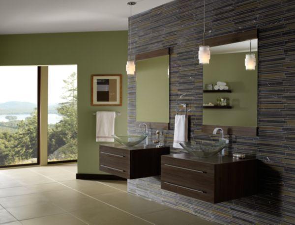Contemporain styles de d coration salle de bains for Style contemporain decoration