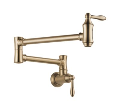Traditional Wall Mount Pot Filler Faucet - Traditional