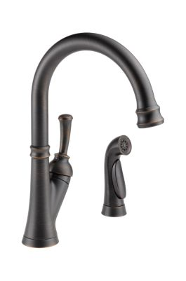Savile Single Handle Kitchen Faucet with Spray