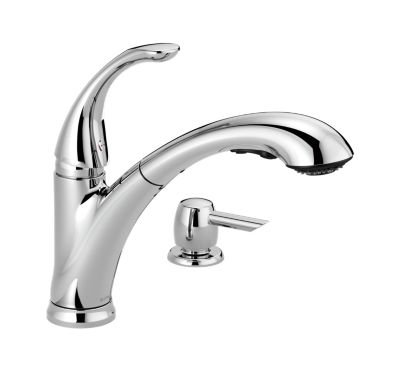 Pixa Single Handle Pull-Out Kitchen Faucet with Soap Dispenser