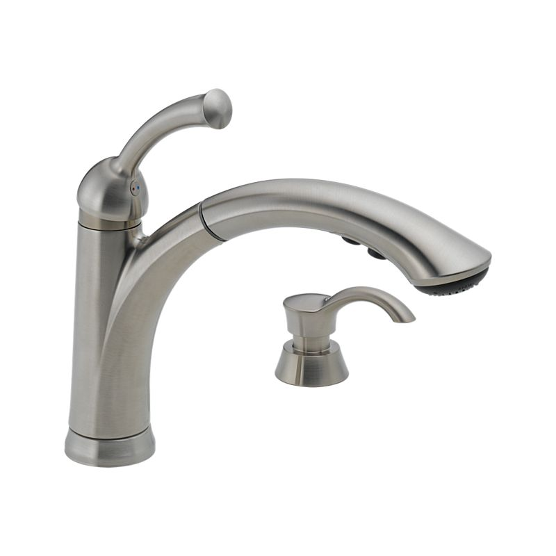 16926-SSSD-DST Lewiston® Single Handle Pull-Out Kitchen Faucet with ...