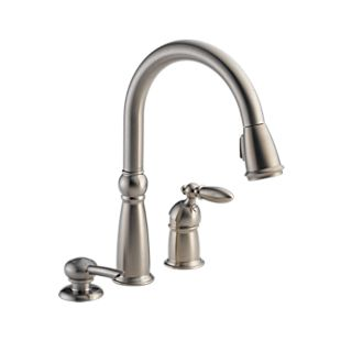 Victorian™ Single Handle Pull-Down Kitchen Faucet with Soap Dispenser
