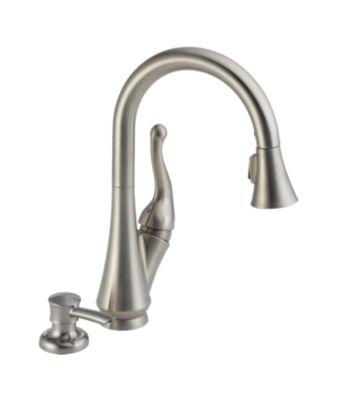 Delta Single Handle Kitchen Faucets 16968-sssd-dst talbott™ single handle pull-down kitchen faucet
