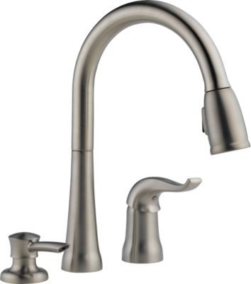 16970 sssd dst kate single handle pull down kitchen faucet with soap rh deltafaucet ca delta kate single handle pulldown kitchen faucet with soap dispenser