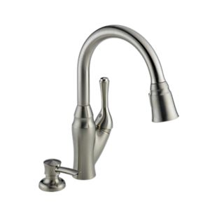 Velino Pull-Down Kitchen Faucet with Integrated Soap Dispenser