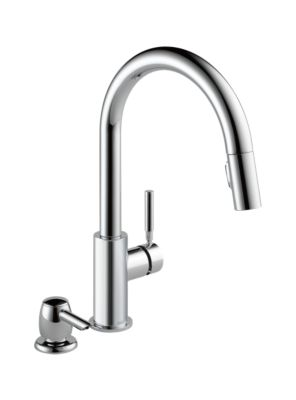 Trask Single Handle Pull-Down Kitchen Faucet with Soap Dispenser