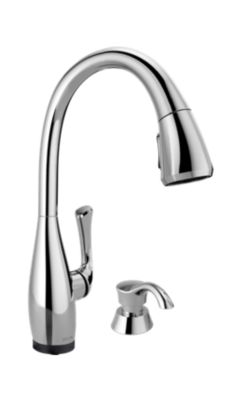 Dominic Single Handle Pull-Down Kitchen Faucet with Touch2O® Technology and Soap Dispenser