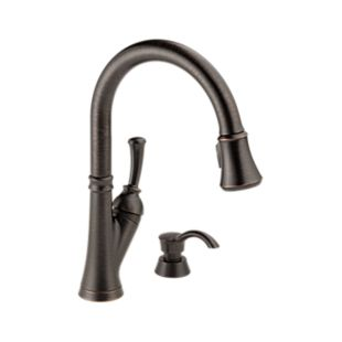 Savile Single Handle Pull-Down Kitchen Faucet with Soap Dispenser