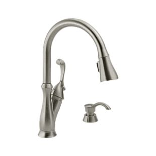 Arabella Single Handle Pull-Down Kitchen Faucet with Soap Dispenser