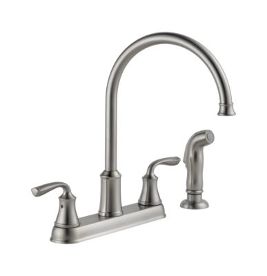 Lorain Two Handle Kitchen Faucet with Spray