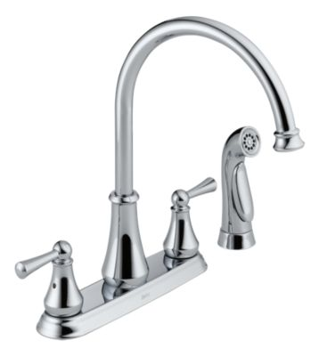 Lewiston Two Handle Kitchen Faucet with Spray
