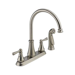 Lewiston® Two Handle Kitchen Faucet with Spray
