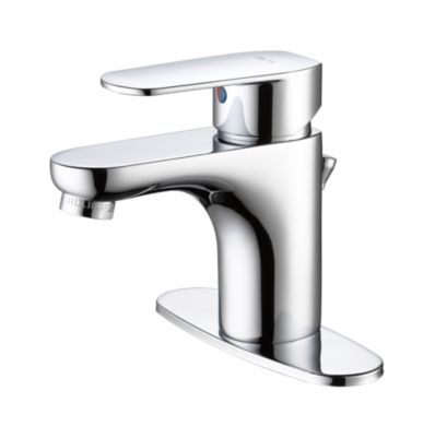 "Elemetro Single Hole Bathroom Faucet with 4"" Plate"