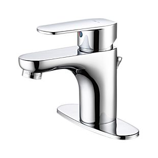 "elemetro Single Hole Bathroom Faucet with 4"" Plate"