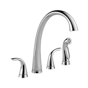 Pilar® Two Handle Widespread Kitchen Faucet with Spray