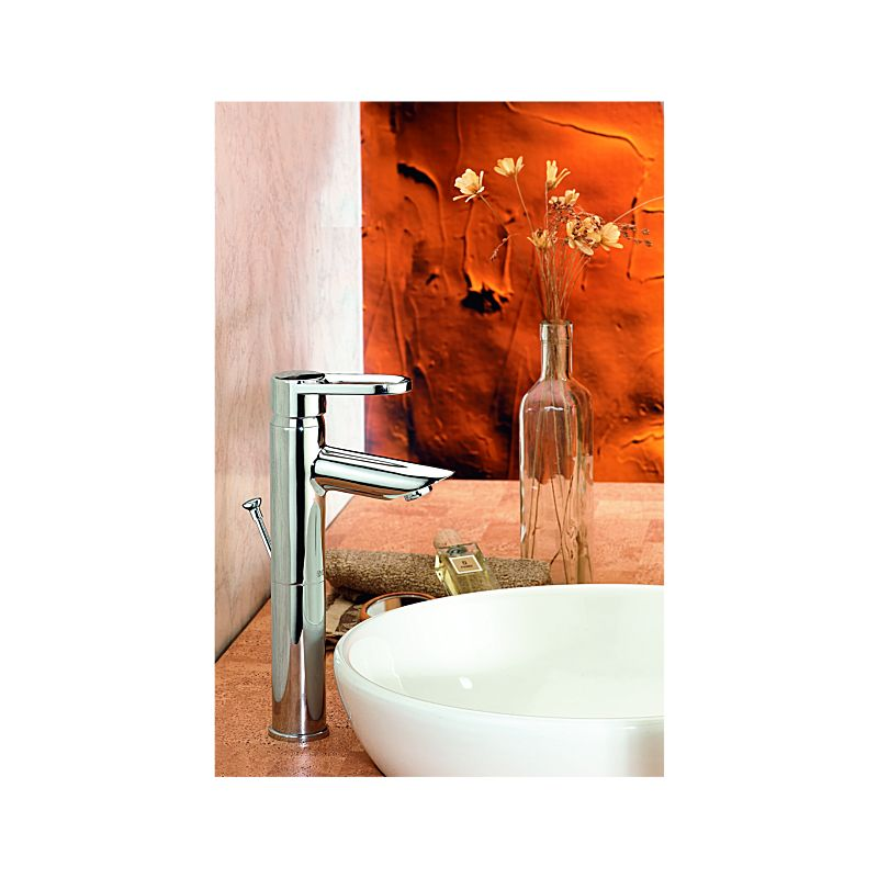 Grail Single Hole Bathroom - Stick Handle - with Pillar Extension Includes  Pop-Up Ceramic