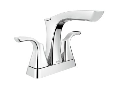 Tesla Two Handle Centerset Lavatory Faucet - Metal Pop-Up