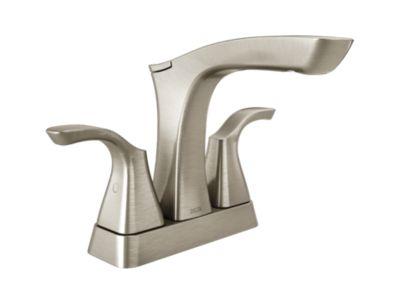 Tesla Two Handle Centerset Lavatory Faucet - Metal Pop-Up