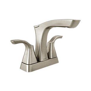 Tesla Two Handle Centerset Bathroom Faucet - Metal Pop-Up