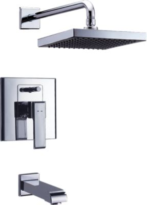 Beau Arzo In Wall Tub And Shower; With Quadrate Shower Head Ceramic Valve System