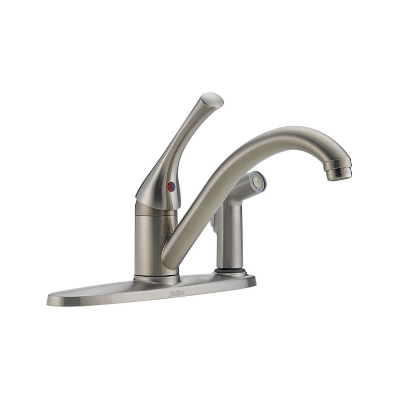 300-SS-DST-A Classic Single Handle Kitchen Faucet with Integral ...