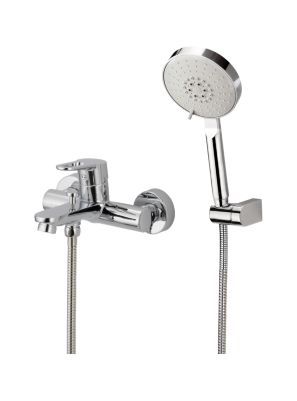 Celeste On Wall Tub and Shower Faucet - Loop Handle
