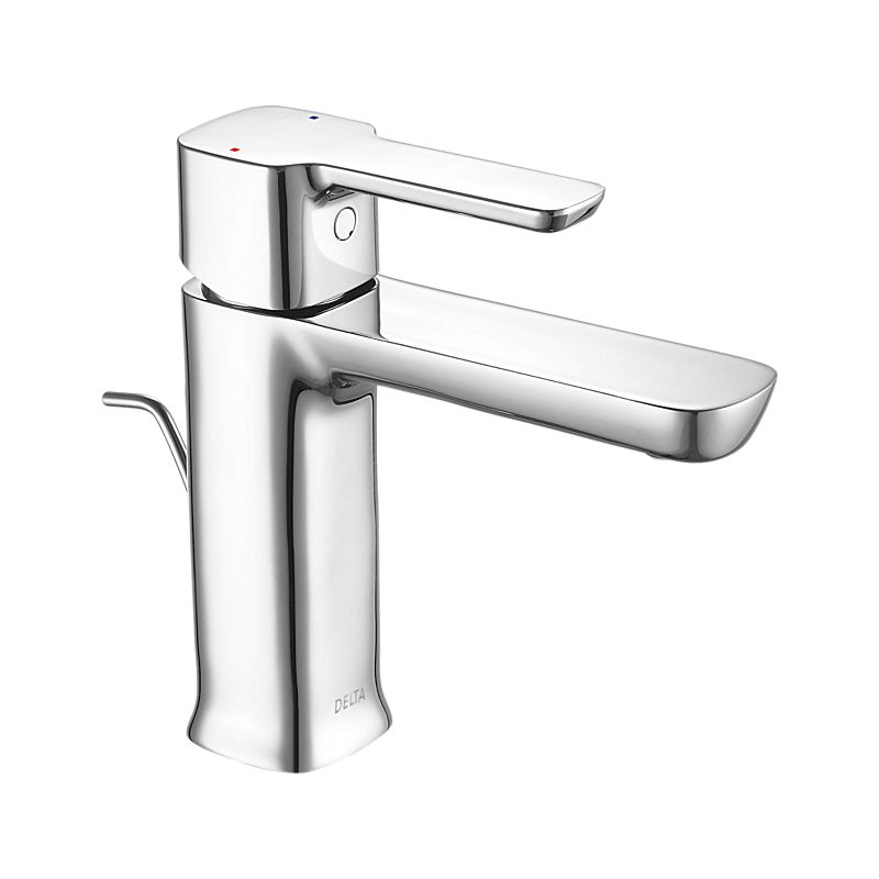 drain included faucets faucet hole handle bathroom centerset single delta ca watersense chrome compel in
