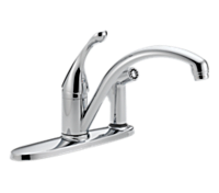 Single Handle Water-Efficient Kitchen Faucet with Integral Spray