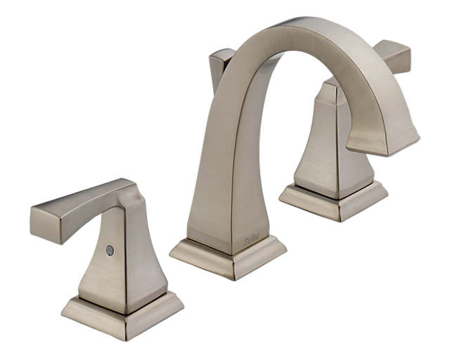 7 Faucet Finishes For Fabulous Bathrooms: 3551LF-SS Dryden Two Handle Widespread Lavatory F