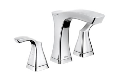 Two Handle Widespread Lavatory Faucet - Metal Pop-Up