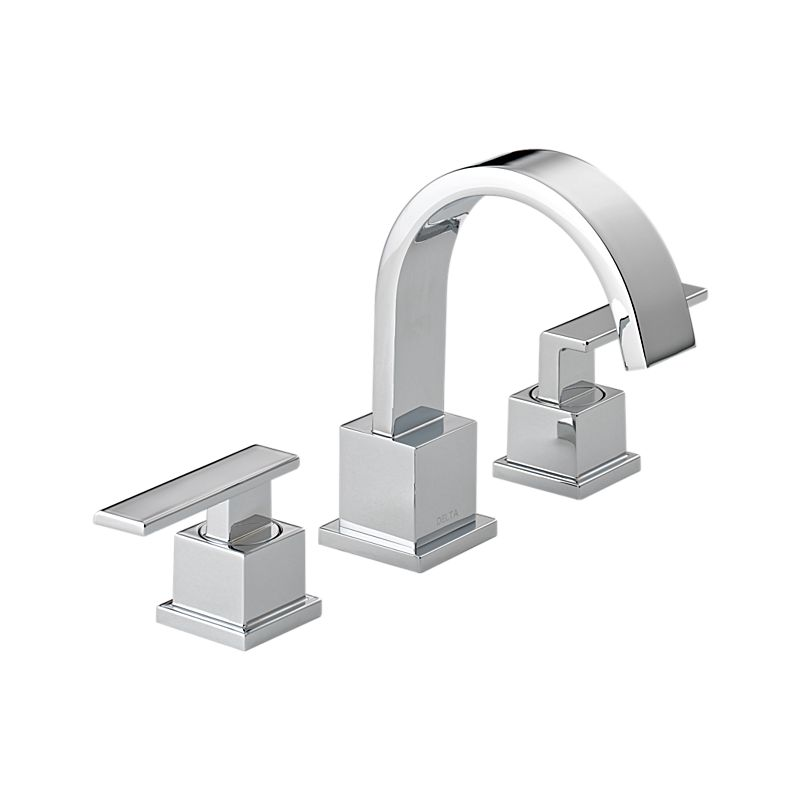 3553lf vero two handle widespread bathroom faucet bath - Delta bathroom sink faucet installation ...