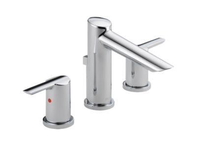 Widespread Bath Faucet w/ metal pop-up