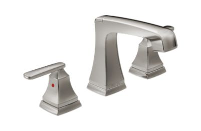 Ashlyn Two Handle Widespread Lavatory Faucet - Metal Pop-Up