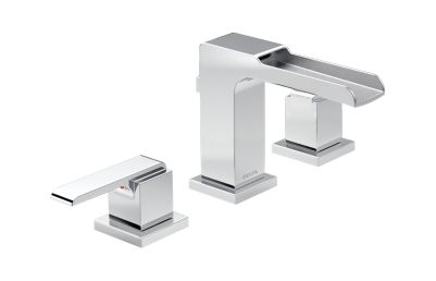 Ara Two Handle Widespread Lavatory Faucet -Metal Pop-Up with Channel Spout