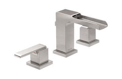 Ara Two Handle Widespread Lavatory Faucet with Channel Spout