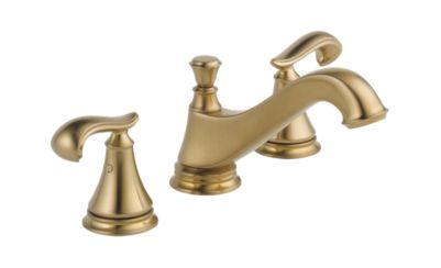 Cassidy™ Two Handle Widespread Lavatory - Low Arc Spout - Metal Pop-Up - Less Handles
