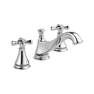 Cassidy Two Handle Widespread Lavatory - Low Arc Spout - Metal Pop-Up - Less Handles