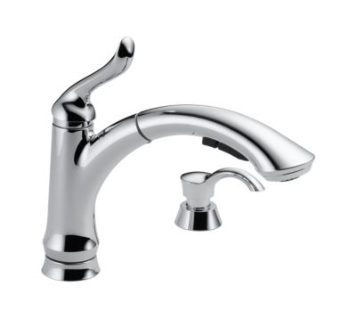 Linden™ Single Handle Pull-Out Kitchen Faucet with Soap Dispenser