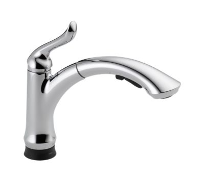 Linden Single Handle Pull-Out Kitchen Faucet with Touch2O Technology