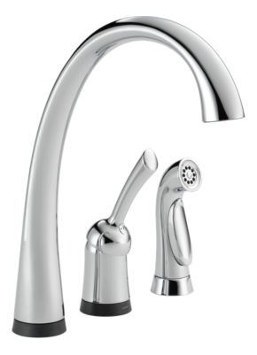 Pilar Single Handle Kitchen Faucet with Touch2O Technology and Spray