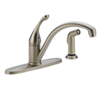 Single Handle Water-Efficient Kitchen Faucet with Spray