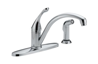 Collins Single Handle Water-Efficient Kitchen Faucet with Spray