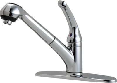 delta single handle pullout kitchen faucet