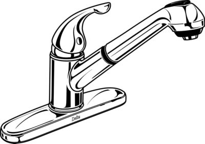 Delta Pull Out Kitchen Faucet With Spray