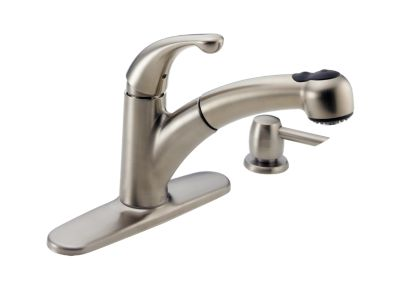 Palo™ Single Handle Pull-Out Kitchen Faucet with Soap Dispenser