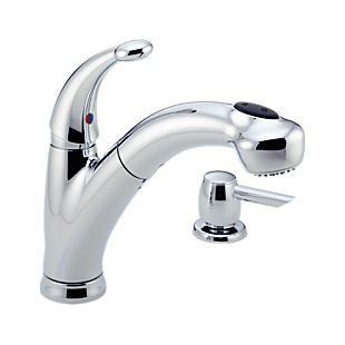 Cicero Single Handle Pull-Out Kitchen Faucet with Soap Dispenser