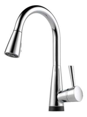 single handle pull down kitchen faucet with smarttouch factory direct hardware home improvement