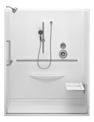 Contemporary 63 x 39 Zero Threshold Shower